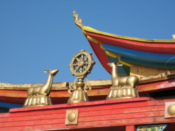 The temple roof...
