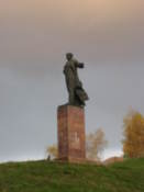 Statue overlooking the city