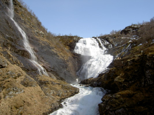 Waterfall on the Myrdal - Flam railway