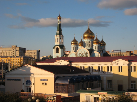 Chita Cathedral, viewed from the railway station