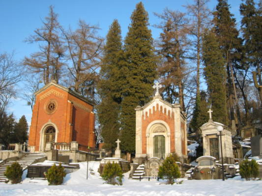 Just inside the entrance of the Lychakivskiy Cemetery